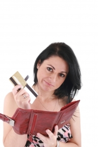 Image of middle-aged woman with wallet