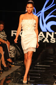 Image of model walking the runway