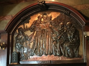A copper relief